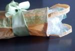 giftbag - tan with greens